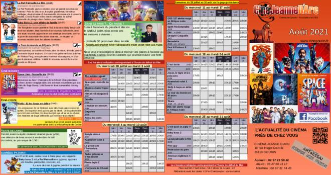 Programme du 28 juillet au 31 août